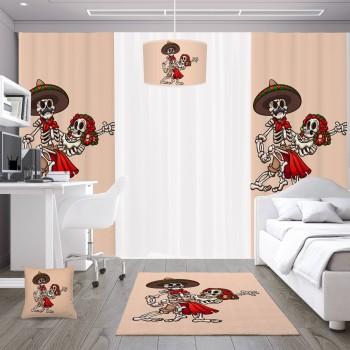 Dans Eden İskeletler Genç Çocuk Odası Abajur-DKCAB-1042