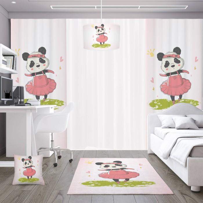 Dans Eden Minik Panda Kız Çocuk Odası Kırlent-DKCY-1046