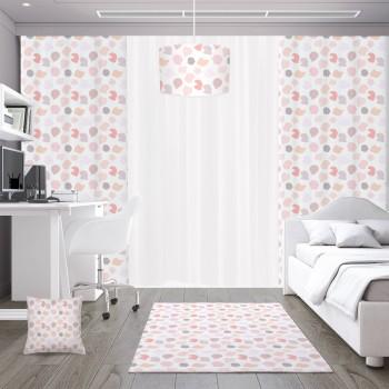 Beyaz Zemin Rengarenk Şekillerle Dolu Çocuk Odası Kırlent-DKCY-1085
