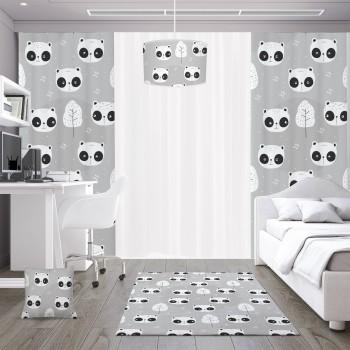 Açık Zemin Utangaç Pandalar  Çocuk Odası Abajur-DKCAB-1087