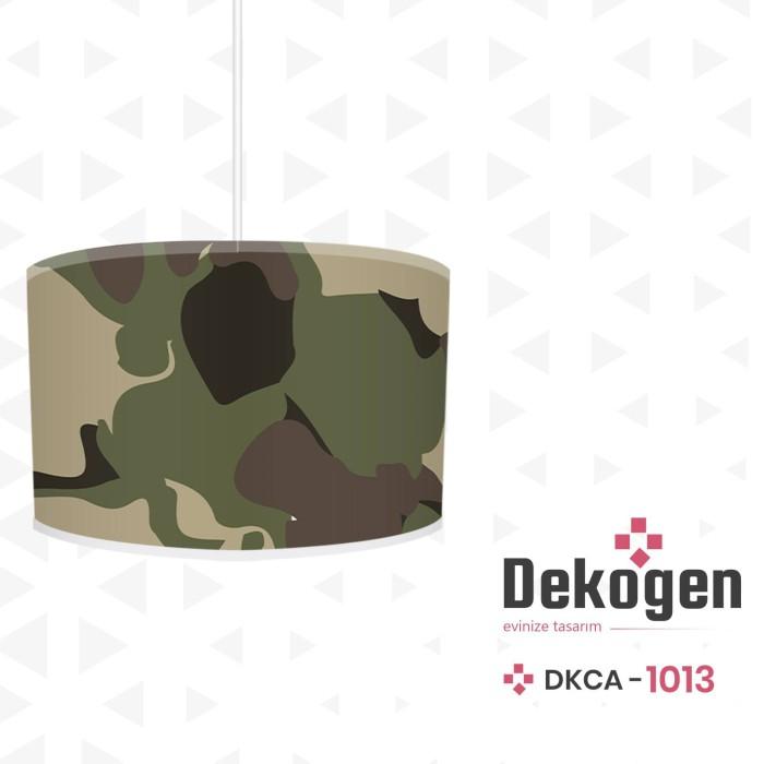Askeri Kamuflaj Desenli Genç Çocuk Odası Avize-DKCA-1013