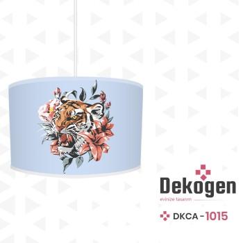 Çiçek ve Yaprak Detaylı Mavi Zemin Genç Çocuk Odası Avize-DKCA-1015