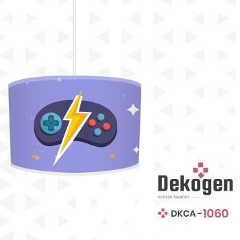Mavi  Zeminli Şimşek Detaylı Gamepad Gamer Odası Avize-DKCA-1060