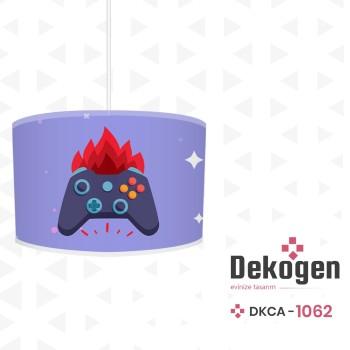 Mavi  Zeminli Ateş  Detaylı Gamepad Gamer Odası Avize-DKCA-1062
