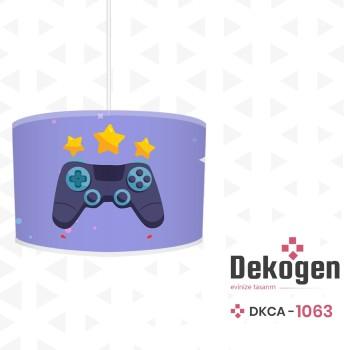 Mavi  Zeminli Yıldız  Detaylı Gamepad Gamer Odası Avize-DKCA-1063