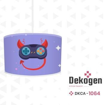 Mavi  Zeminli Şeytan Detaylı Gamepad Gamer Odası Avize-DKCA-1064
