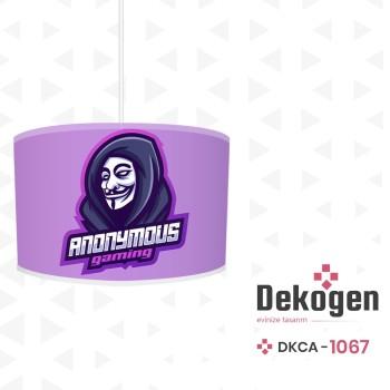 Anonymous Logolu Gamer  Odası Avize-DKCA-1067