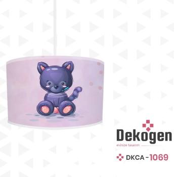Açık Zeminli Oturan Uslu Kedi Erkek Çocuk Odası Avize-DKCA-1069