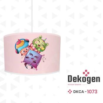 Açık Zeminli Müzisyen Arkadaşlar Temalı Çocuk Odası Avize-DKCA-1073