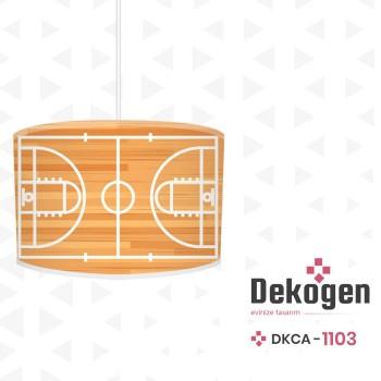 Basketbol  Sahası Ahşap Detaylı  Erkek  Çocuk Odası Avize