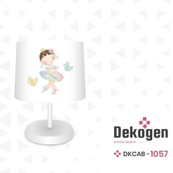 Çiçek Detaylı Balerin Prenses Kız Çocuk Odası Abajur-DKCAB-1057
