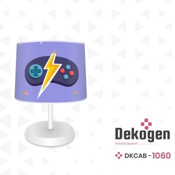 Mavi  Zeminli Şimşek Detaylı Gamepad Gamer Odası Abajur-DKCAB-1060