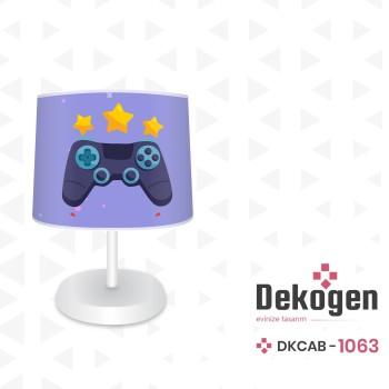 Mavi  Zeminli Yıldız  Detaylı Gamepad Gamer Odası Abajur-DKCAB-1063