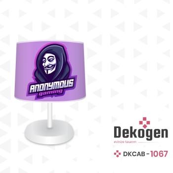 Anonymous Logolu Gamer  Odası Abajur-DKCAB-1067