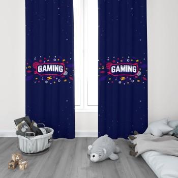 Gaming Tasarımlı  Gamer Serisi Genç Çocuk Odası Fon Perdesi-DKCF-1020