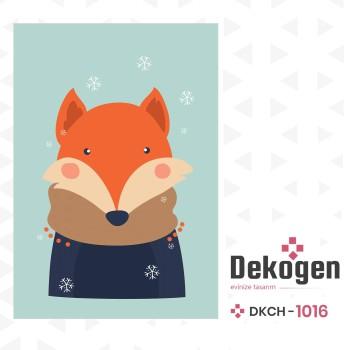Atkılı  Sevimli Tilki Erkek Çocuk Odası Halısı-DKCH-1016