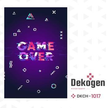 Game Over Koyu Zemin Gamer Serisi Genç Çocuk Odası Halısı-DKCH-1017