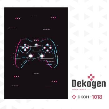 Game Pad  Koyu Zemin  Gamer Serisi Genç Çocuk Odası Halısı-DKCH-1018
