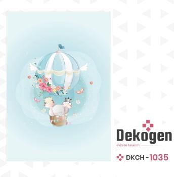 Çiçek Detaylı Uçan Balon Çocuk Odası  Halısı-DKCH-1035