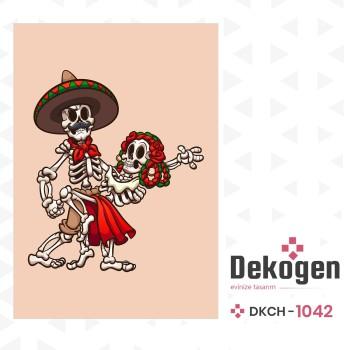 Dans Eden İskeletler Genç Çocuk Odası Halısı-DKCH-1042