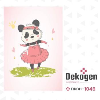 Dans Eden Minik Panda Kız Çocuk Odası Halısı-DKCH-1046