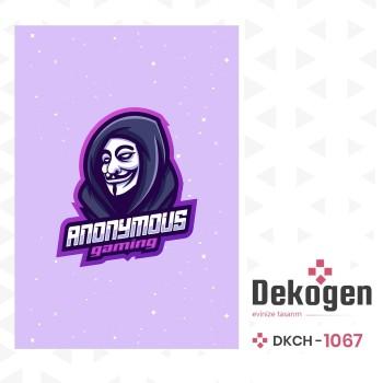 Anonymous Logolu Gamer  Odası Halısı-DKCH-1067