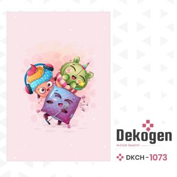 Açık Zeminli Müzisyen Arkadaşlar Temalı Çocuk Odası Halısı-DKCH-1073