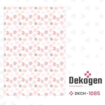 Beyaz Zemin Rengarenk Şekillerle Dolu Çocuk Odası Halısı-DKCH-1085