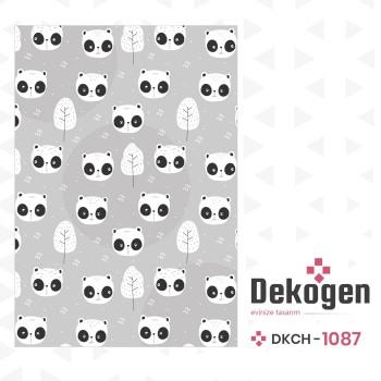 Açık Zemin Utangaç Pandalar  Çocuk Odası Halısı-DKCH-1087