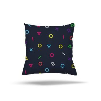 Koyu Zemin Geometrik Tasarım Genç Çocuk Odası Kırlent-DKCY-1019