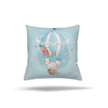 Çiçek Detaylı Uçan Balon Çocuk Odası  Kırlent-DKCY-1035