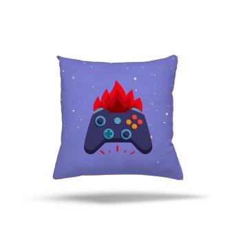 Mavi  Zeminli Ateş  Detaylı Gamepad Gamer Odası Kırlent-DKCY-1062