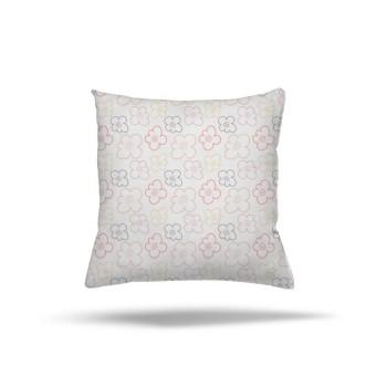Beyaz Zemin Çiçek Detaylı  Kız Çocuk Odası Kırlent-DKCY-1079