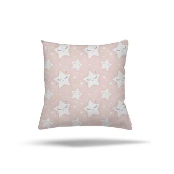Büyüklü Küçüklü Seviml Yıldızlar Kız Çocuk Odası Kırlent-DKCY-1083
