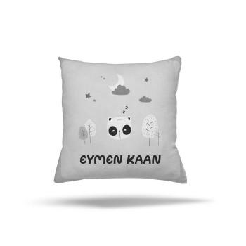 Ay ve Yıldız Detaylı Minik Panda Kişiye Özel Erkek Çocuk Odası Kırlent-DKCY-1092