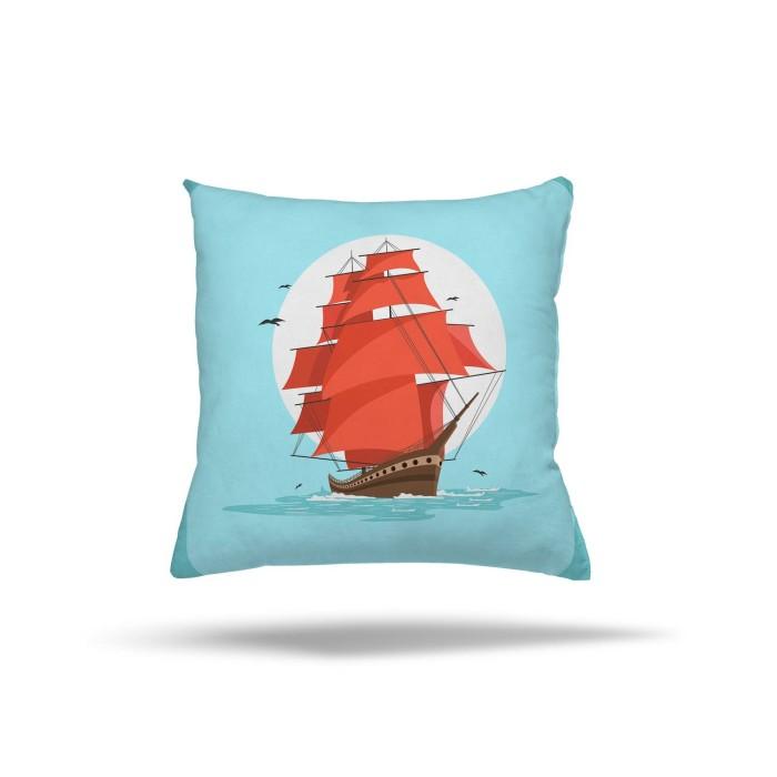 Açık Denizlerdeki Gemi  Çocuk Odası Kırlent