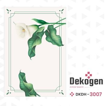 Çiçek ve Yaprak Desenlli Dekoratif Halısı-DKDH-3007