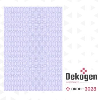 Açık Renk  Arı Peteği Desenli Noktalı Dekoratif Halısı-DKDH-3028