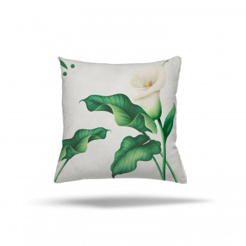 Çiçek ve Yaprak Desenlli Dekoratif Kırlent-DKDY-3007